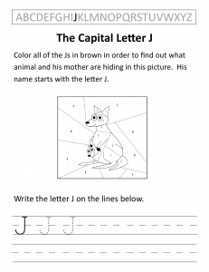 Download the capital letter J worksheet