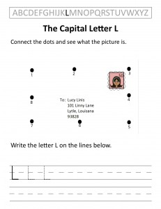 Download the capital letter L worksheet