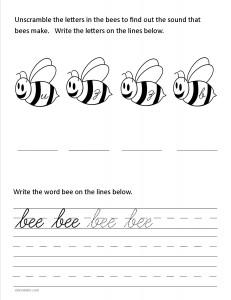 Download the cursive lower case letter b worksheet