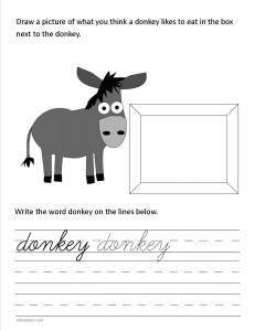 Download the cursive lower case letter d worksheet
