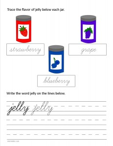 Download the cursive lower case letter j worksheet