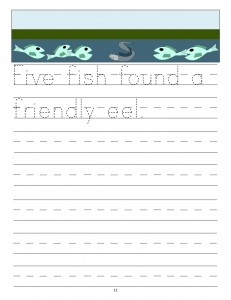 Download the manuscript handwriting letter F copywork