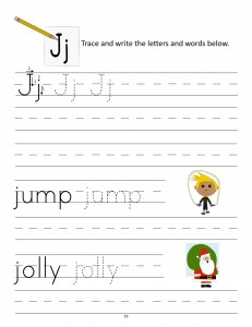 Download the manuscript handwriting letter J worksheet