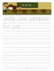Download the manuscript handwriting letter J copywork