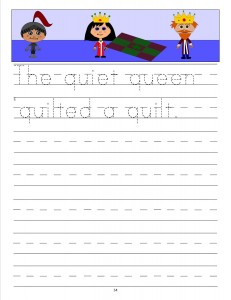 Download the manuscript handwriting letter Q copywork