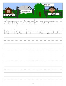 Download the manuscript handwriting letter Z copywork
