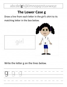 Download the lower case g worksheet