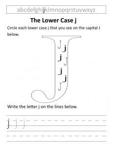 Download the lower case j worksheet