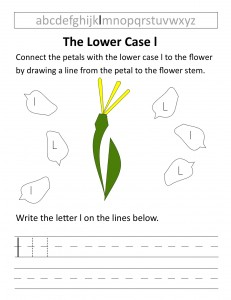 Download the lower case l worksheet