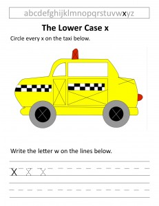 Download the lower case x worksheet