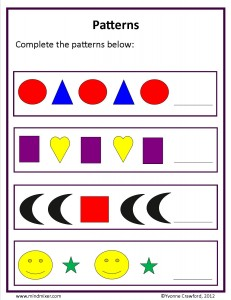 Download the basic patterns worksheet