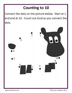 Download the counting from 7 to 10 worksheet