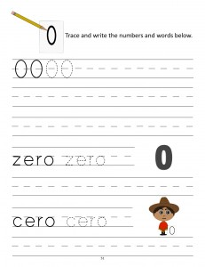 Download the manuscript handwriting number 0 worksheet