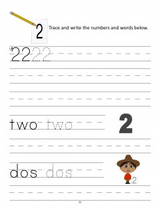 Download the manuscript handwriting number 2 worksheet