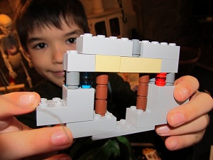 My son and his LEGO Minecraft mine