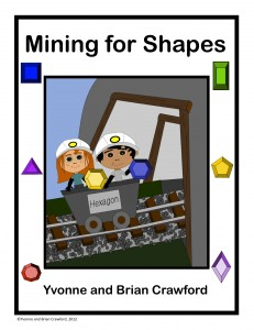 Free mine-themed shapes math craft