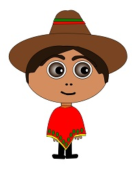 A boy wearing a sombrero
