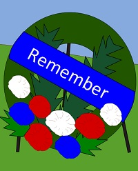 A wreath for Memorial Day