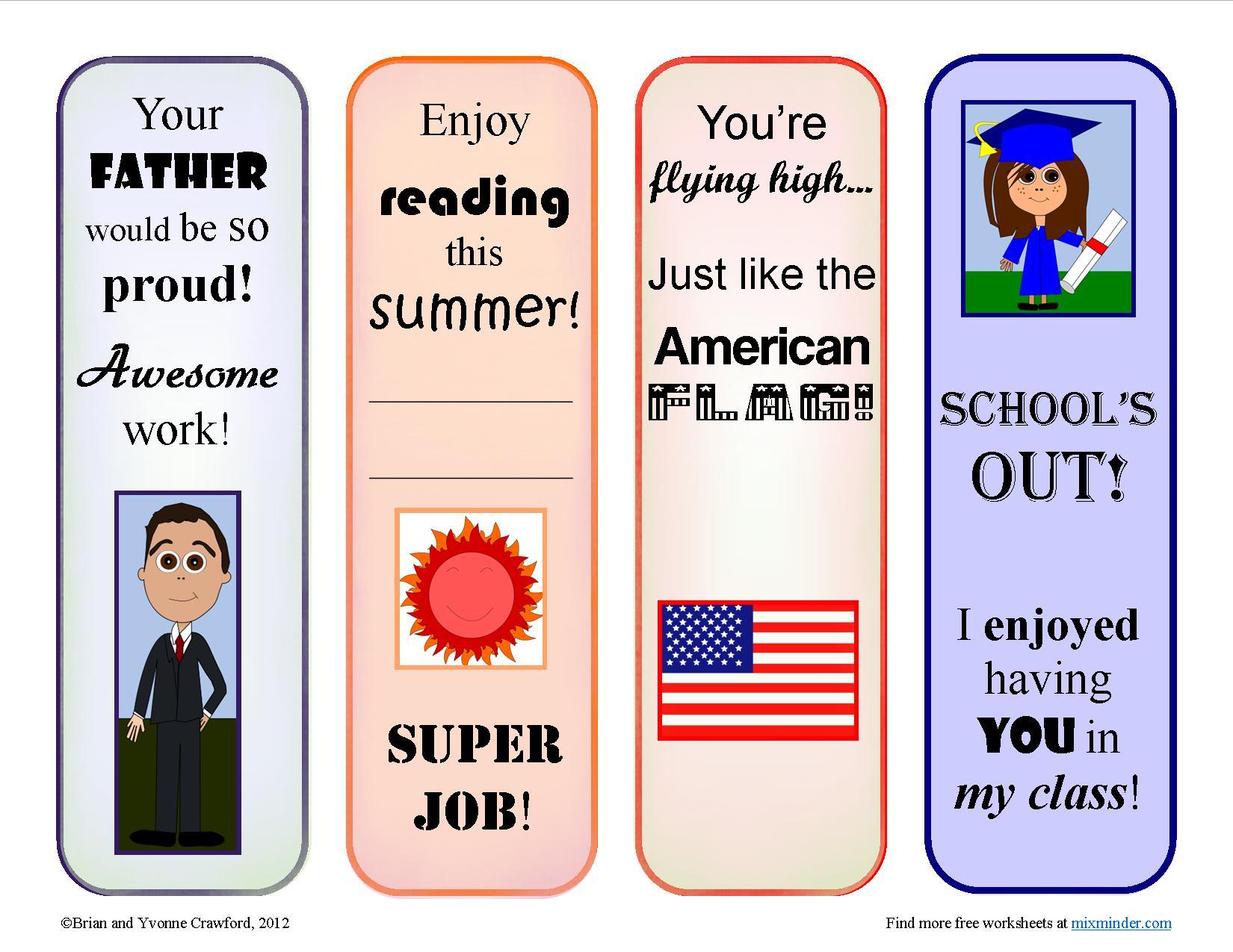 June Reward Bookmarks