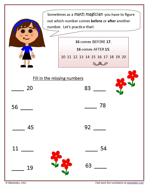 An Ordering Numbers Worksheet