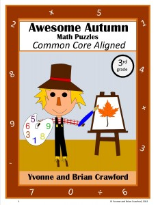 Autumn Common Core Math Puzzles for Third Grade