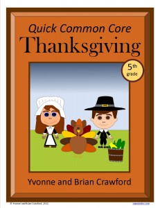 Thanksgiving Quick Common Core Math for Fifth Grade