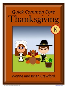 Thanksgiving Quick Common Core Math for Kindergarten