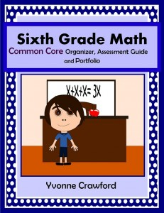 Common Core Organizer, Assessment Guide and Portfolio for Sixth Grade Mathematics