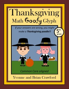 Thanksgiving Math Goofy Glyph for Fifth Grade