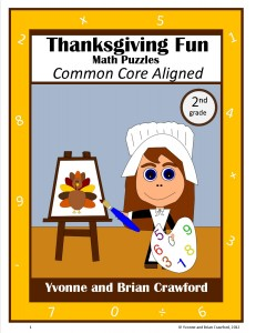 Thanksgiving Common Core Math Puzzles for Second Grade