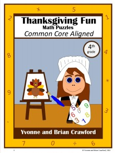 Thanksgiving Common Core Math Puzzles for Fourth Grade