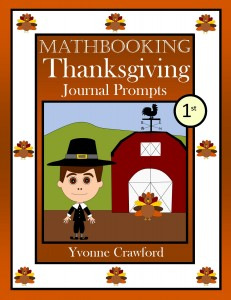 Thanksgiving Math Journal Prompts for First Grade