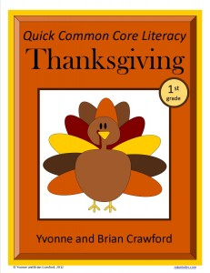 Thanksgiving Quick Common Core Literacy for First Grade