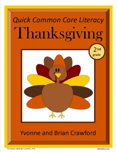 Thanksgiving Quick Common Core Literacy for Second Grade