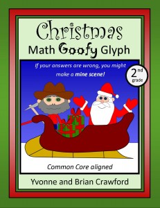 Christmas Math Goofy Glyph for Second Grade