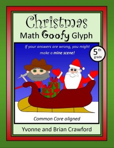 Christmas Math Goofy Glyph for Fifth Grade