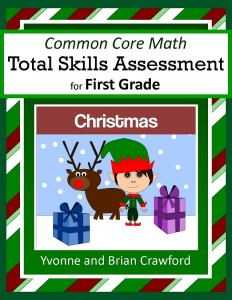 Christmas Common Core Math Total Skills Assessment for First Grade