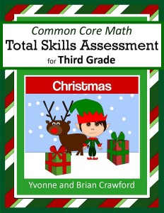 Christmas Common Core Math Total Skills Assessment for Third Grade