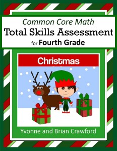 Christmas Common Core Math Total Skills Assessment for Fourth Grade