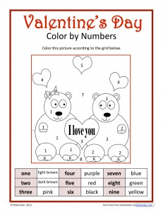 Valentine's Day Color by Numbers