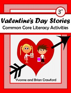 Valentine's Day Common Core Literacy Activities for Third Grade