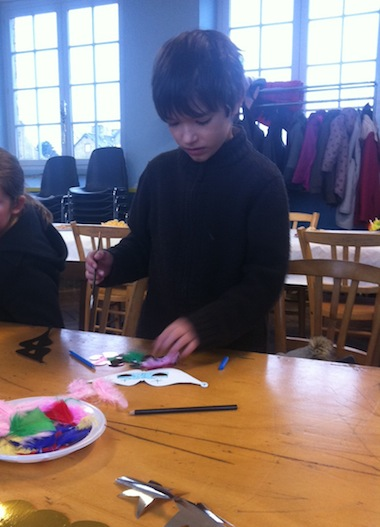 Painting a Chinese New Year mask