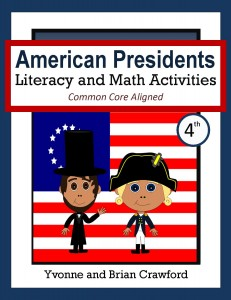 American Presidents Literacy and Math Activities for Fourth Grade