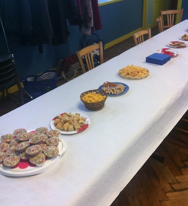 The snack table
