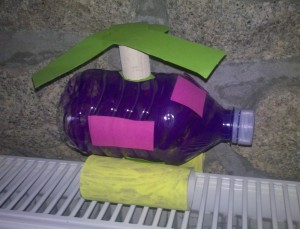 Soda pop bottle helicopter craft