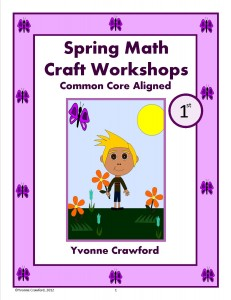 Spring Math Craft Centers for First Grade