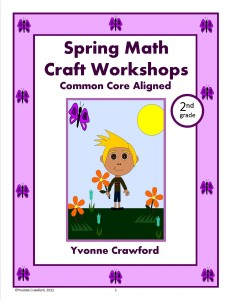 Spring Math Craft Centers for Second Grade