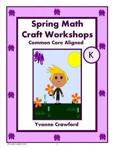 Spring Math Craft Centers for Kindergarten