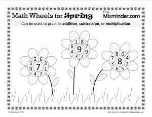 Spring Common Core Math Wheels