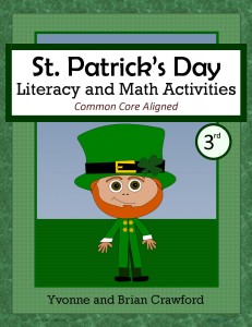 St. Patrick's Day Literacy and Math Activities for Third Grade